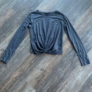 Women's All Saints Long Sleeve Twist Shirt Sz M